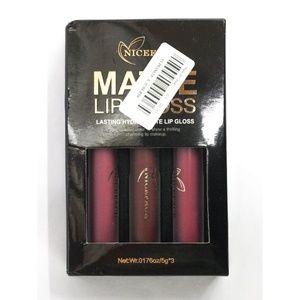 3 Colors Waterproof Lipstick Matte Lip Gloss Set